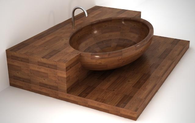 unique-wood-bathtub