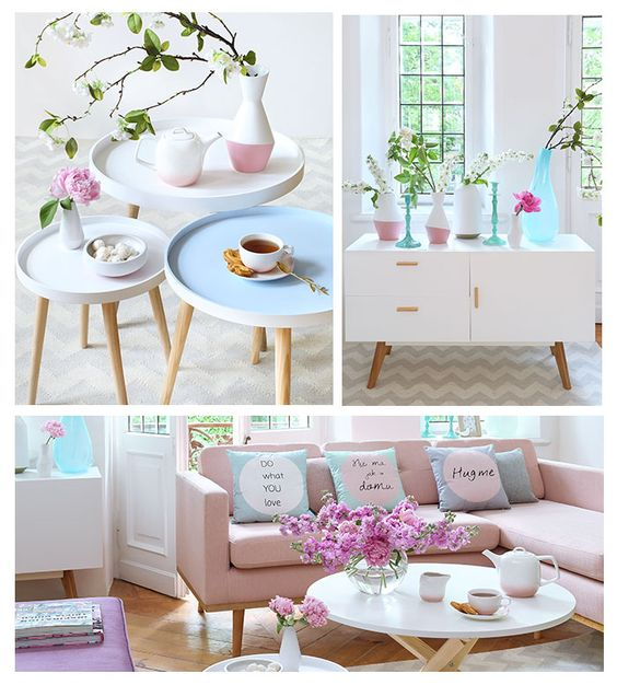 decor em tom pastel ou candy color